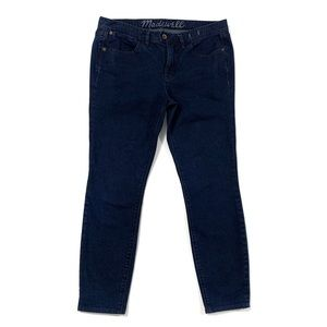 Madewell Mid Rise Dark Wash Skinny Jeans Cropped